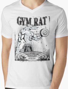 Gym Rat (Male) Mens V-Neck T-Shirt