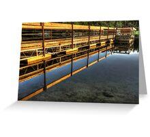 mirror dock Greeting Card