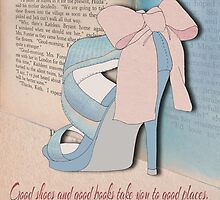 Good Shoes and Good Books. by TezIllustrator