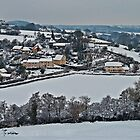 East Worlington in the snow by Rob Hawkins