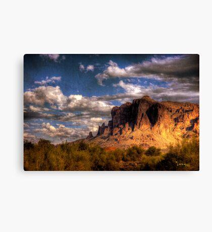 Superstition Mountains-4 Canvas Print