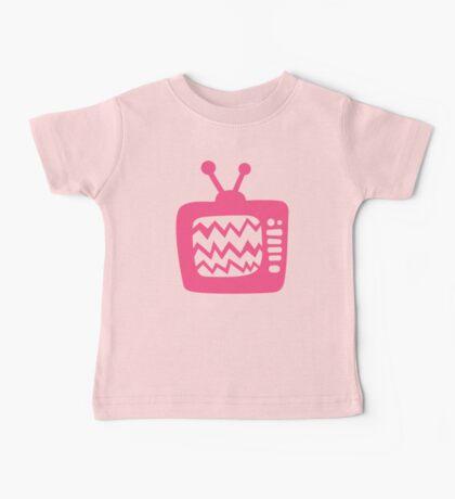 Vintage Pink Cartoon TV Baby Tee