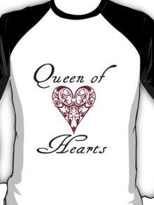 Hearts queen of hearts geek funny nerd T-Shirt
