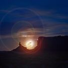 Moonrise, Monument Valley by Rachael Talibart