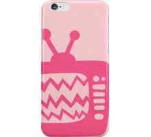 Vintage Pink Cartoon TV iPhone Case/Skin