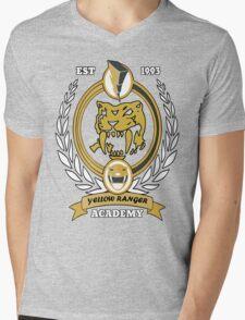 Yellow Ranger Academy Mens V-Neck T-Shirt