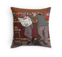 A Good Chat At The Bar Throw Pillow