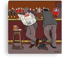 A Good Chat At The Bar Canvas Print