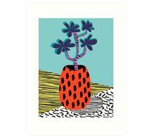 Spazzing - throwback house plant retro 1980s style memphis design neon art pop art print dorm room hipster decor Art Print