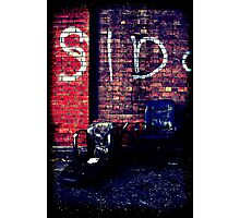 Two black chairs Photographic Print