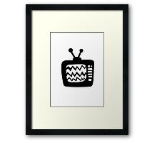 Vintage Cartoon TV Framed Print