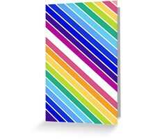 At the End of The Rainbow Stripes Greeting Card
