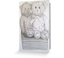 teddy bears in pencil Greeting Card