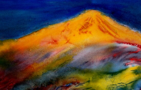 Watercolour: Tortured Earth by Marion Chapman