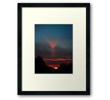 Upper Tangent Arc - Sunset 12-23-2010 Framed Print