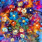 Vibrant abstract flowers painting by Svetlana  Novikova
