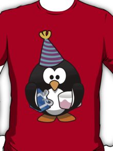 Personalized birthday card penguin geek funny nerd T-Shirt