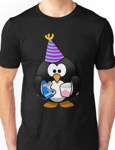 Personalized birthday card penguin geek funny nerd Unisex T-Shirt