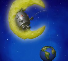 The Fishing Moon by mdkgraphics