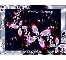Festive blossoms - Compliments of the season to you all Photographic Print
