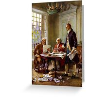 Writing The Declaration of Independence Greeting Card