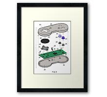 Prototype SNES Controller Framed Print