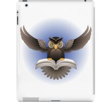Brown Owl fly with the book iPad Case/Skin
