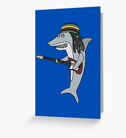 Reggae shark Greeting Card