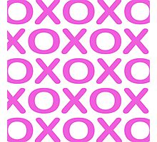 Noughts Crosses Pink Photographic Print