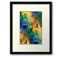 Tapestry Collage Framed Print