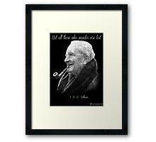 Tolkien Text Portriat Framed Print