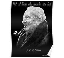 Tolkien Text Portriat Poster