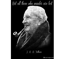 Tolkien Text Portriat Photographic Print