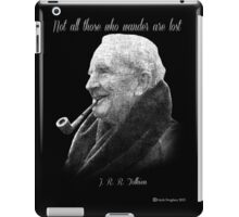 Tolkien Text Portriat iPad Case/Skin