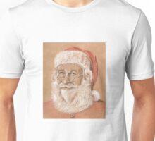 Gentle Smiling Santa on Kraft Unisex T-Shirt
