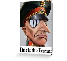 This Is The Enemy -- WWII Greeting Card