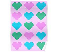 Pixel Heart V.1 Poster