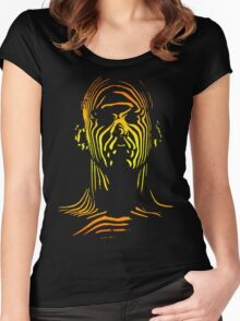 13th Floor Elevators Outline Man Women's Fitted Scoop T-Shirt