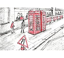 Red Objects in London series Photographic Print