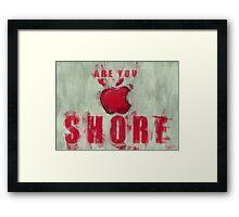 Apple Mac Shore Framed Print