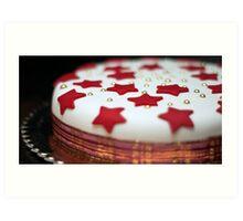 Christmas Cake Art Print