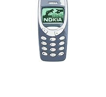 Nokia 3310 mobile phone by redcow