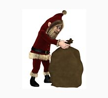 Santa Claus with Sack of Christmas Gifts Unisex T-Shirt