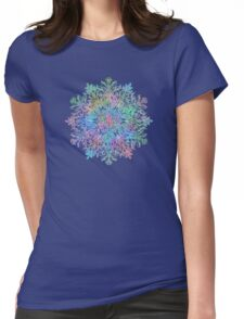 Nature Mandala in Rainbow Hues Womens Fitted T-Shirt