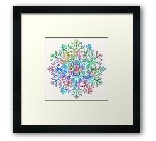 Nature Mandala in Rainbow Hues Framed Print