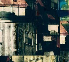 Industrial Grunge Mixed Media Collage 21 by Steve Johnson