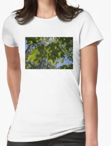Blue Skies Womens Fitted T-Shirt