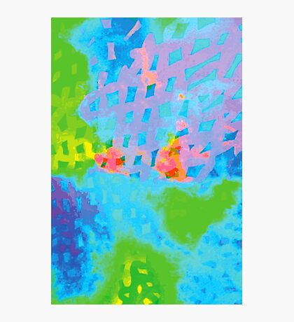Abstract Blue Green Colorful Water Color Painting Background Photographic Print