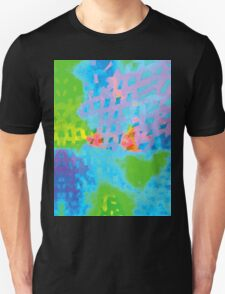 Abstract Blue Green Colorful Water Color Painting Background Unisex T-Shirt