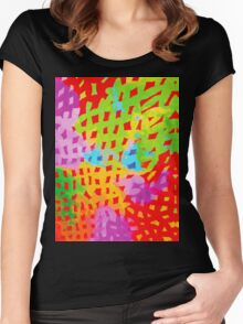 Abstract Watercolor Painting Women's Fitted Scoop T-Shirt